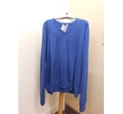 Tu V-neck jumper Blue Size: XXL