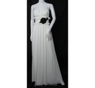 BNWT Wtoo Full-Length Bridesmaid dress ivory and black Size: 10