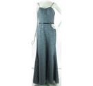 BNWT Wtoo Size: 14 Grey Full Length Lace Dress