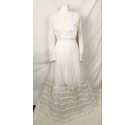 Vintage 1960's French style wedding dress