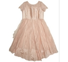 Storm by Monsoon Puffy Party Dress Pink Size: 9 - 10 Years