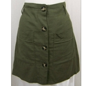Peacocks Button through mini skirt Dark green Size: 14