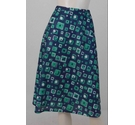 Unbranded Vintage Midi Skirt Navy and Green Size: 12