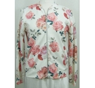 New Look Jacket Pink and Cream Size: 12