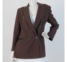 Planet Double-Breasted Jacket Chocolate Brown Size: M