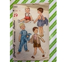 Simplicity 1483 60s children's sewing pattern. Size 2 Shirt, jkt, pants, used, all pieces present.