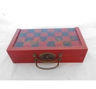 Chinese Style Plaster CHESS Set in Decorative Wooden Box