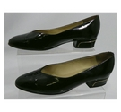 Bally Patent Low Court Shoes Black Size: 5.5