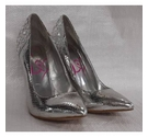Lipsy stiletto shoes silver Size: 4