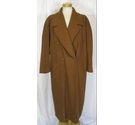 Laurel - Escada Vintage 1980s Wool Coat Golden Brown Size: XL