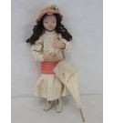Cloth doll with parasol