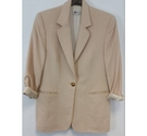 True Vintage Bianca Soft Padded Shoulder Jacket in Cream Size: L