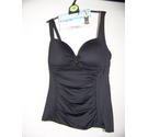 M&S Collection Tankini Top Black Size: 12