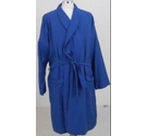 M&S Herringbone Dressing Gown Navy Blue Size: XL