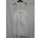 Zig Zag Long dress with silver threads Cream Size: 5 - 6 Years