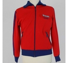 Adidas Sports Collared Zip Jacket Tomato Red Size: S