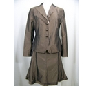 Cinque Poly silk blend skirt suit Brown Size: M