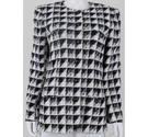 Emanuel Ungaro Vintage Abstract Jacket Black and cream Size: L