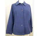 M& S Classic Lightweight A line jacket Blue Size: 16