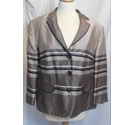 Gerry Weber vintage striped jacket coffee mix Size: L