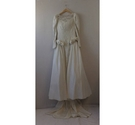 Ronald Joyce Lace Wedding dress with Removable Train, Size 8-10