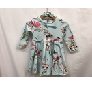 Ted Baker Floral Print Dress & Headband Blue Size: 1-3 years