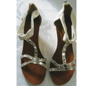 Salt and Pepper Madeline white diamonte wedges white Size: 8
