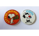 Pair of 1950's Snoopy badges