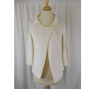 JL Linen Knitted Cardigan Cream Size: S