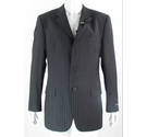Ted Baker Endurance 42R Wool/Cashmere Suit Jacket Brown Pinstripe Size: L