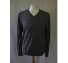 Banana Republic thin knit cotton silk blend jumper strip grey black Size: M