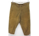 Vintage Craghoppers corduroy breeches/plus fours olive green Size: 34""