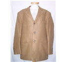 M&S Marks & Spencer Single breasted suit jacket Tan Size: M