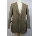St Michael Harris Tweed vintage herring bone jacket brown Size: M