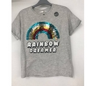 M&S Marks & Spencer Rainbow Sequin Tshirt Grey Size: 11 - 12 Years
