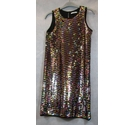 M&S Marks & Spencer sequined party dress multi coloured Size: 11 - 12 Years
