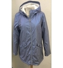 New Marks & Spencers Shower Proof Hooded Coat Metallic Size: 13 - 14 Years