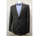 Yaly Couture Made to Measure Suit Dark Grey Size: L