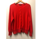 M&S Marks & Spencer Cashmere Blend Cardigan Red Size: 18