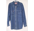 Smith And Brooks VINTAGE Denim Shirt jacket Blue Size: L