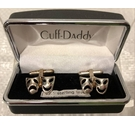 Cuff-Daddy Cuff Links Sterling Silver Size: Large