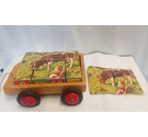 1950s Vintage Picture blocks Kids Games Cart