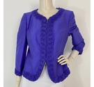 Armani Collezioni Silk Frill Edge Jacket Purple Size: 12