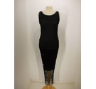 Unbranded Evening Dress Black Sequined Size: S