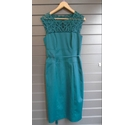Phase Eight Teal Tapework Dress Teal Size: 12