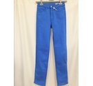 M&S Home Straight Stretchy Jeans, Bright Blue Size: S