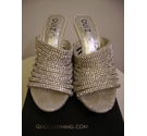 Quiz diamante slip on sandals silver Size: 8