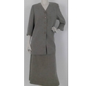 Viyella Suit Jacket And Skirt Mocha Brown Size: 10