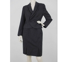 Laura Ashley Pure Wool Suit Jacket & Skirt Grey Size: 12