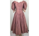 Forget me Not Vintage 80s Dress Dusty Pink Size: 12